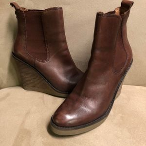 Lucky Brand Wedge Leather Booties
